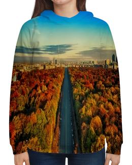 """Толстовка с полной запечаткой """"Германия"""" - страны, города, германия, дорога, осень"""