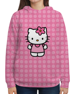 """Толстовка с полной запечаткой """"Kitty в горошек"""" - мультик, hello kitty, мультфильм, для детей, привет китти"""