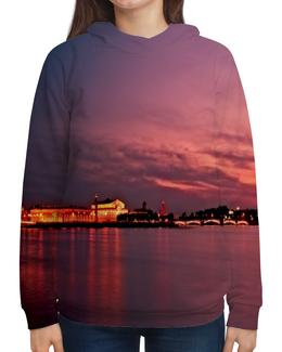"""Толстовка с полной запечаткой """"Санкт-Петербург"""" - страны, города, россия, закат, санкт-петербург"""