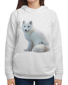 """Толстовка с полной запечаткой """"лиса белая .очаровашка."""" - собака, природа, лиса"""
