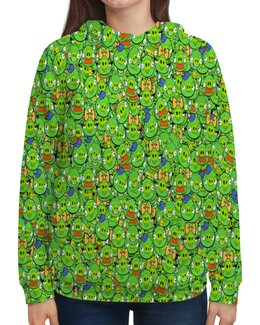 """Толстовка с полной запечаткой """"Angry Birds"""" - зеленый, свиньи, мульт, angry birds, энгри бёрдз"""