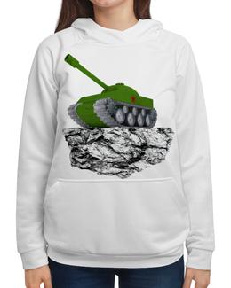 """Толстовка с полной запечаткой """"С 23 февраля!"""" - 23 февраля, танк, февраль, день защитника отечества"""
