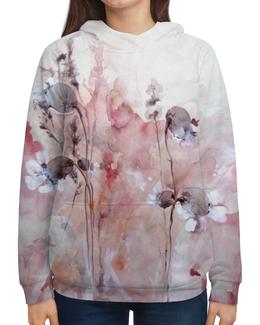 """Толстовка с полной запечаткой """"Осенние цветы"""" - цветок, осень, оригинальный, акварель, нежный"""