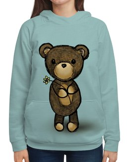 """Толстовка с полной запечаткой """"Медвежонок"""" - медведь, мишка, девушкам, медвежонок, плюшевый"""