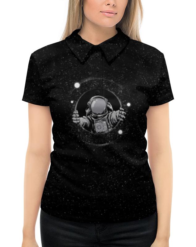Рубашка Поло с полной запечаткой Printio Черная дыра