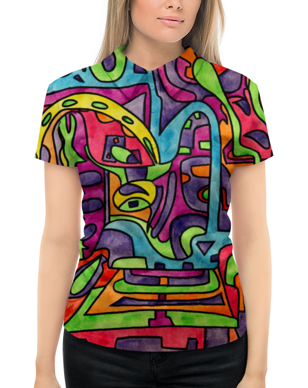 Рубашка Поло с полной запечаткой Printio Fp`pf-o[]80 футболка с полной запечаткой для девочек printio fp pf o[]80