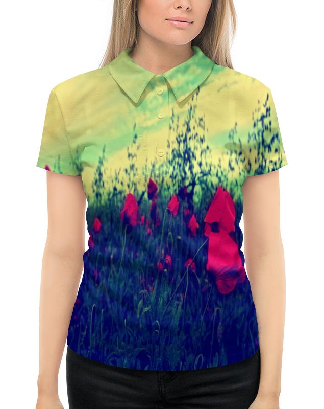 Рубашка Поло с полной запечаткой Printio Поле маков футболка с полной запечаткой женская printio поле маков