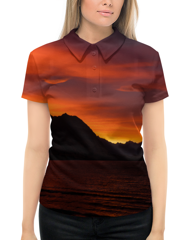 Рубашка Поло с полной запечаткой Printio Багряный закат рубашка поло с полной запечаткой printio закат у моря