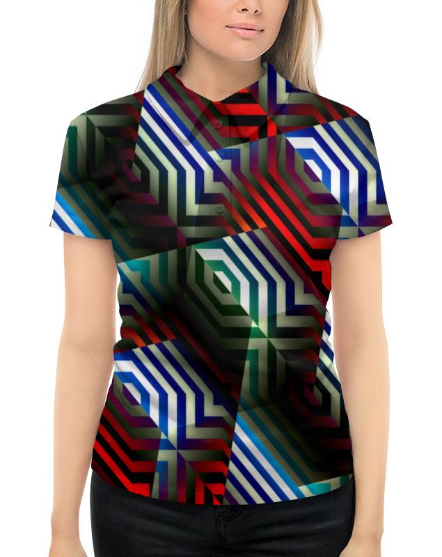 Рубашка Поло с полной запечаткой Printio Цветной орнамент