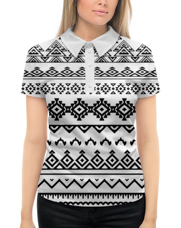 Рубашка Поло с полной запечаткой Printio Этнический узор жен ожерелья с подвесками мода этнический перо черный цвет радуги темно зеленый 70cm ожерелье назначение праздники для улицы