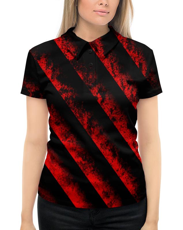 Рубашка Поло с полной запечаткой Printio Черно-красные полосы bebendorff ботинки зимние карл черно красные