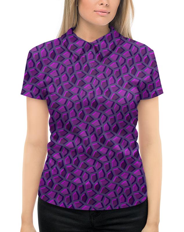 все цены на Рубашка Поло с полной запечаткой Printio Пурпурная мозаика онлайн