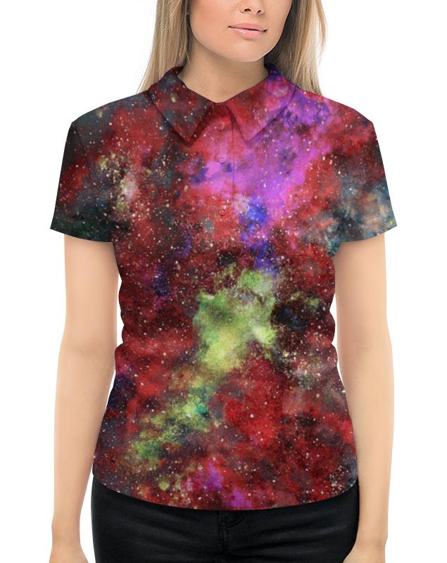 Рубашка Поло с полной запечаткой Printio Space поло print bar nebula space