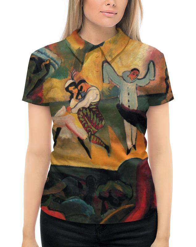 Рубашка Поло с полной запечаткой Printio Русский балет (август маке) август мягкая мозаика дерево цвет основы синий