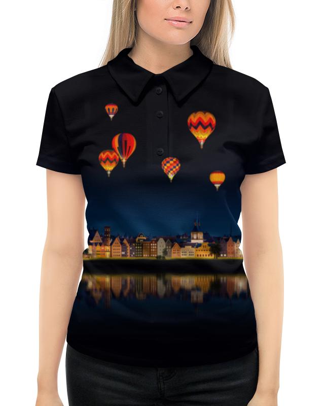 Рубашка Поло с полной запечаткой Printio Ночной городок футболка с полной запечаткой женская printio воздушные шары