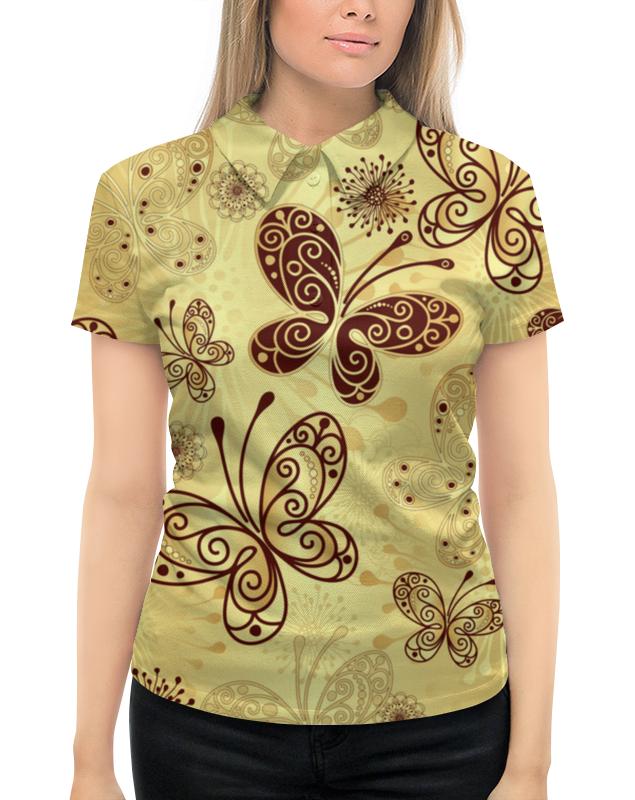 Рубашка Поло с полной запечаткой Printio Бабочки