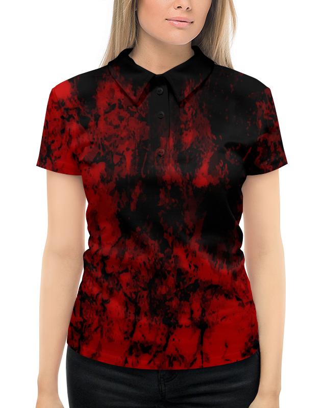 Рубашка Поло с полной запечаткой Printio Черно-красный рубашка fox цвет красный