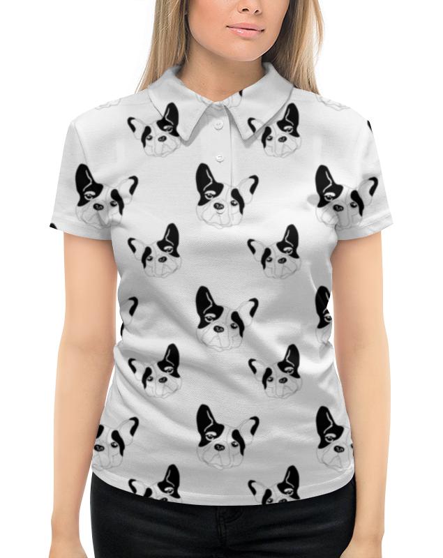 Рубашка Поло с полной запечаткой Printio Английский бульдог брайтон к аквар английский бульдог тв