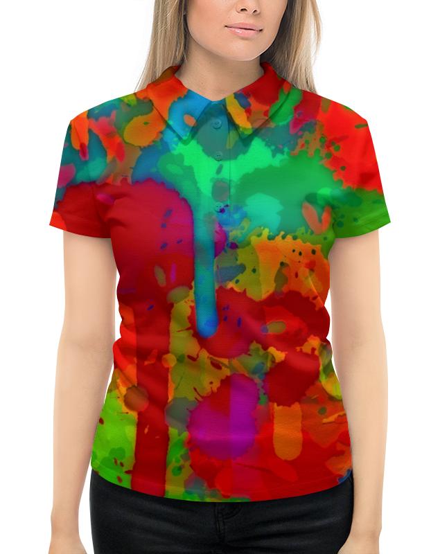 Рубашка Поло с полной запечаткой Printio Сочные краски поло print bar линии краски