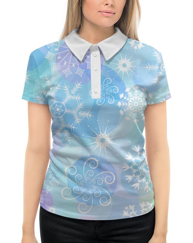 Рубашка Поло с полной запечаткой Printio Снежинка printio рубашка поло с полной запечаткой