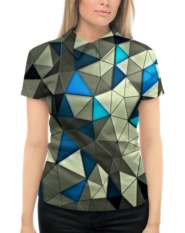 Рубашка Поло с полной запечаткой Printio Стекло серо-голубое цена и фото