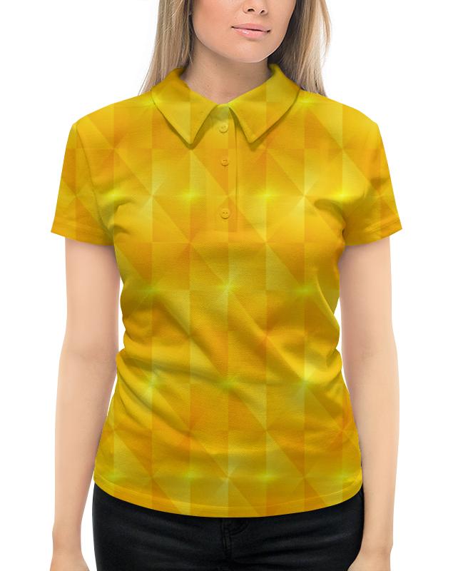 цена на Рубашка Поло с полной запечаткой Printio Желтые квадраты
