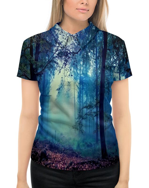 Рубашка Поло с полной запечаткой Printio Сумрачный лес поло print bar за грибами в лес