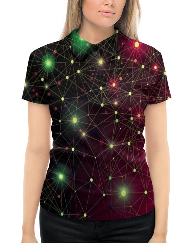 Фото - Рубашка Поло с полной запечаткой Printio Созвездие футболка с полной запечаткой женская printio созвездие рака