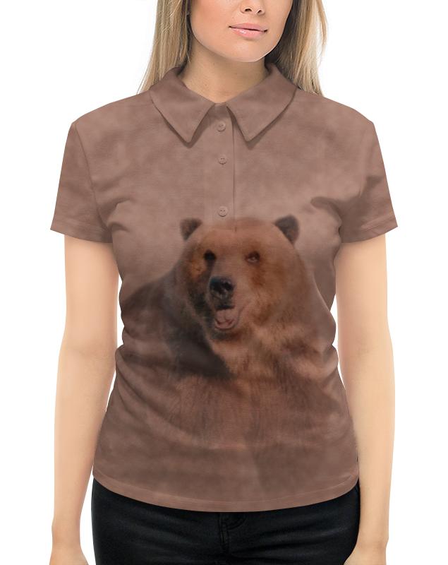 Рубашка Поло с полной запечаткой Printio Медведь