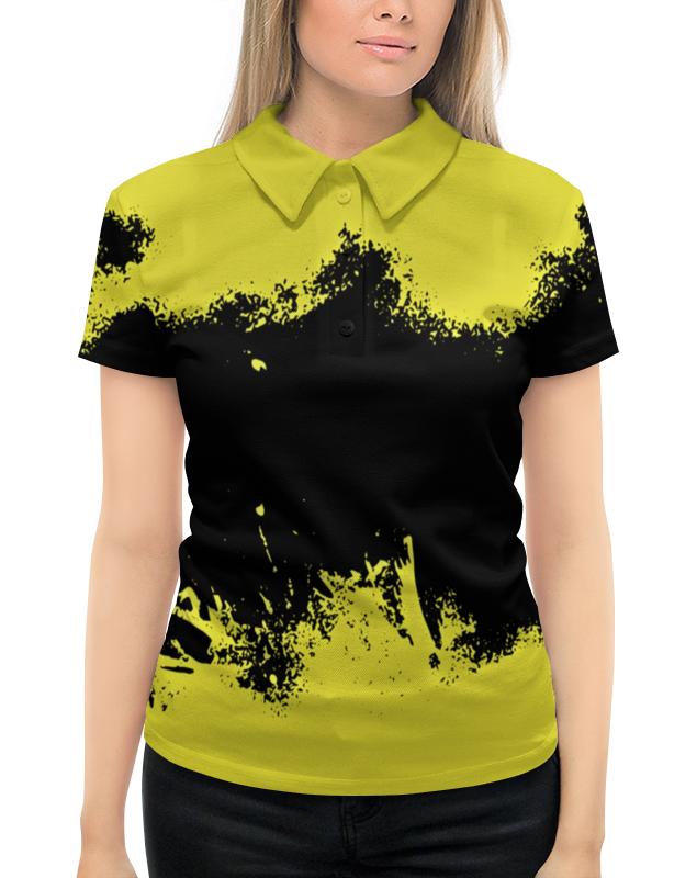 цена на Рубашка Поло с полной запечаткой Printio Черно-желтые краски