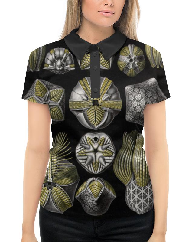 Рубашка Поло с полной запечаткой Printio Blastoidea, ernst haeckel юбка в складку printio blastoidea ernst haeckel