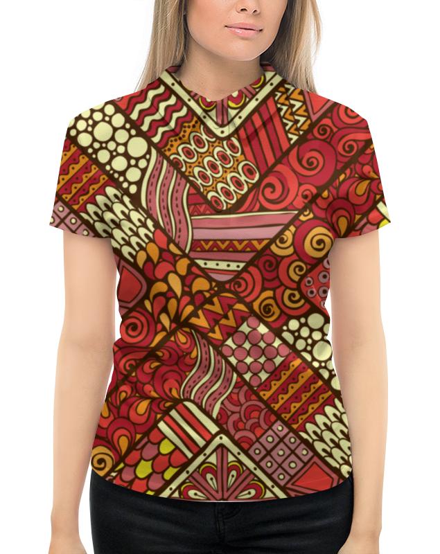 Рубашка Поло с полной запечаткой Printio Этнический узор жен ожерелья с подвесками мода этнический перо кофейный красный синий 70cm ожерелье назначение праздники для улицы