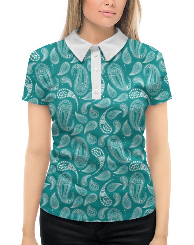 Рубашка Поло с полной запечаткой Printio Пейсли