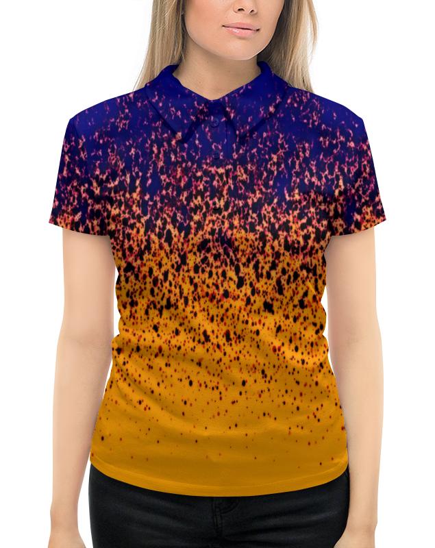 Рубашка Поло с полной запечаткой Printio Желто-синие краски цена