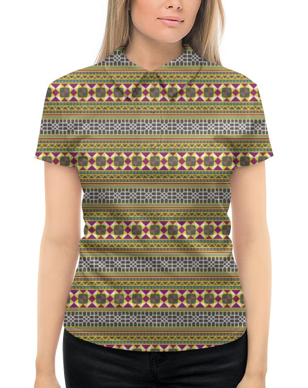 Рубашка Поло с полной запечаткой Printio Разноцветный геометрический орнамент