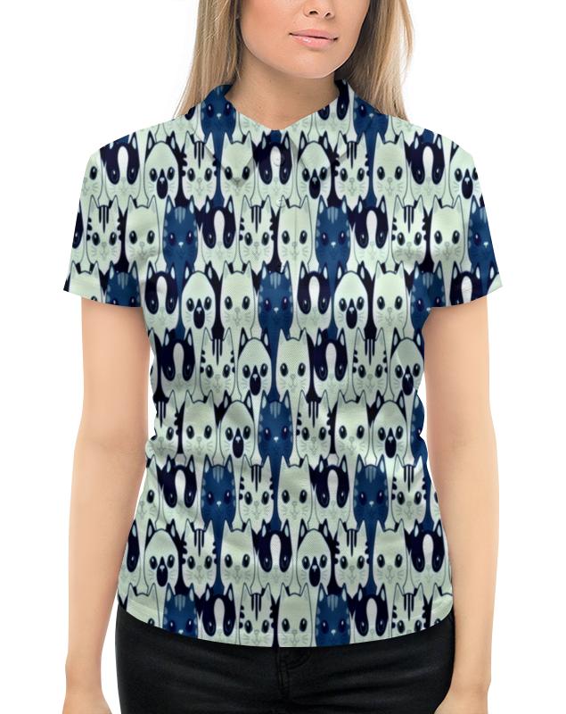 Рубашка Поло с полной запечаткой Printio Котятки