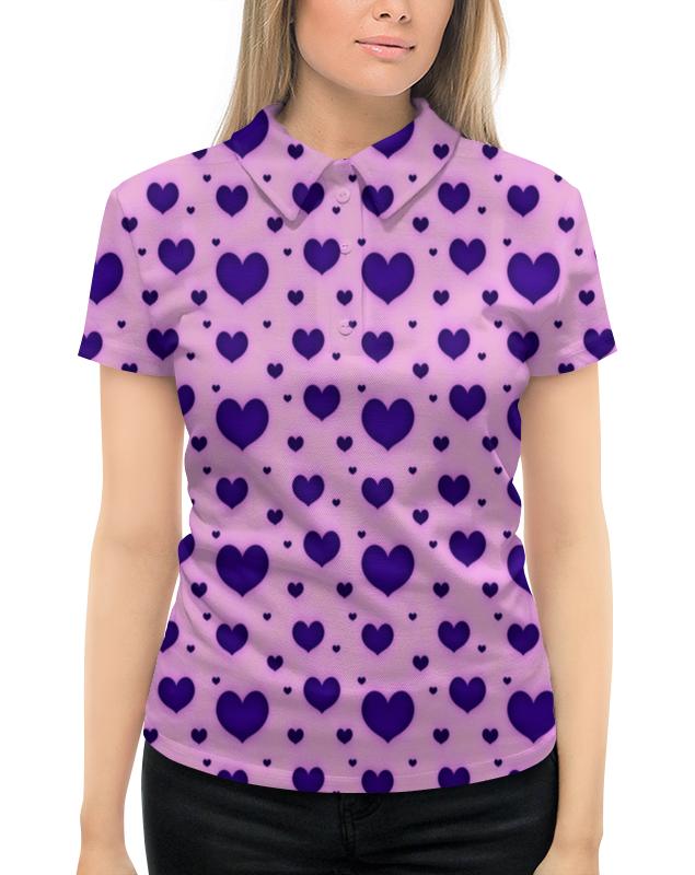 Рубашка Поло с полной запечаткой Printio Синее сердце поло синее с принтом ido ут 00004176