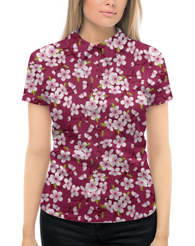 Рубашка Поло с полной запечаткой Printio Цветущая вишня эксмо блокнот цветущая сакура