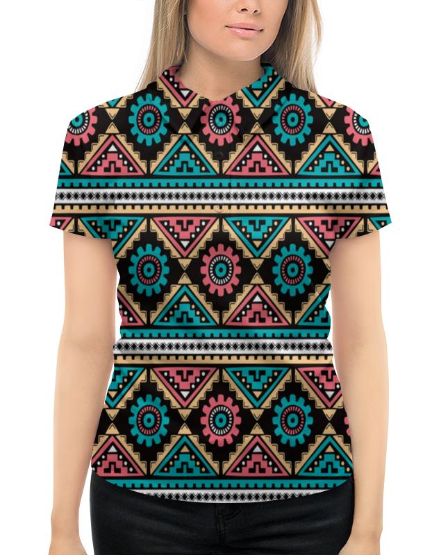 Рубашка Поло с полной запечаткой Printio Яркий орнамент