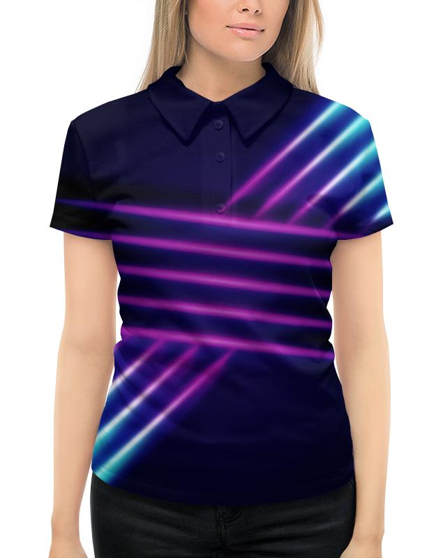 Рубашка Поло с полной запечаткой Printio Абстрактные линии рубашка поло с полной запечаткой printio линии