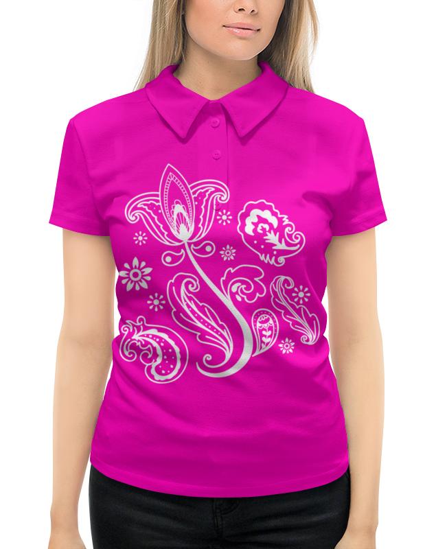 Рубашка Поло с полной запечаткой Printio Тюльпан футболка с полной запечаткой женская printio тюльпан