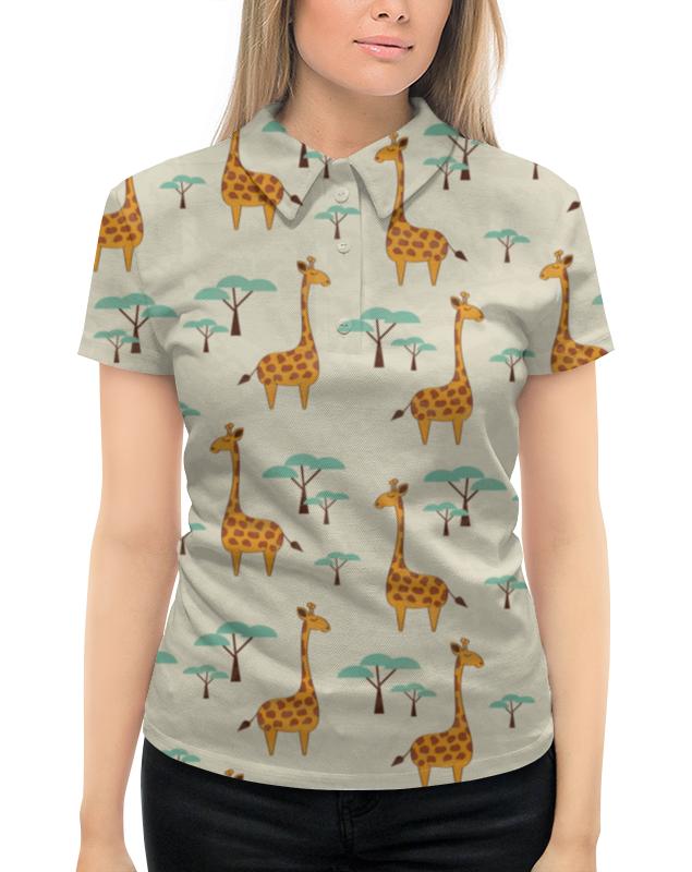 Рубашка Поло с полной запечаткой Printio Жирафы