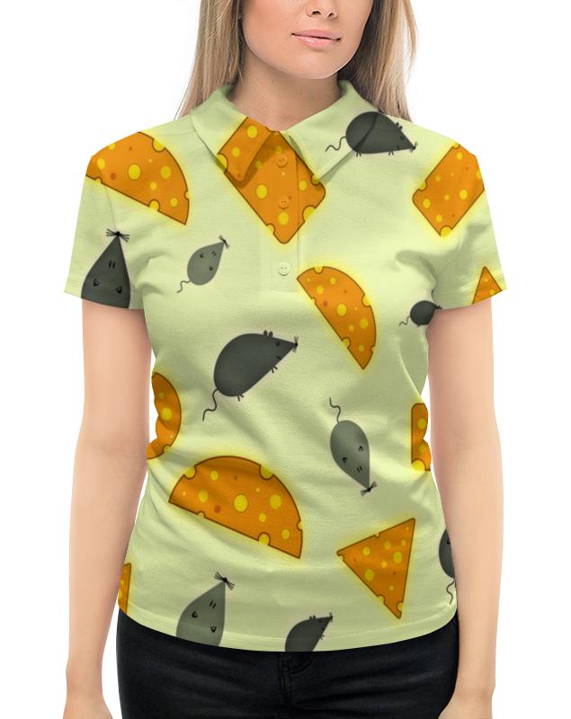 Рубашка Поло с полной запечаткой Printio Мышь и сыр футболка с полной запечаткой для девочек printio мышь и сыр