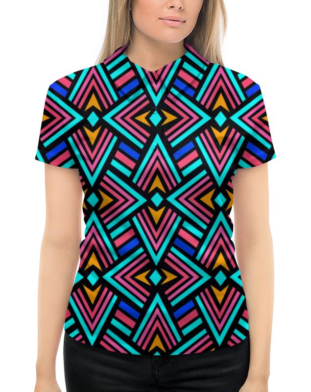 Рубашка Поло с полной запечаткой Printio Яркий узор рубашка поло с полной запечаткой printio вязаный узор