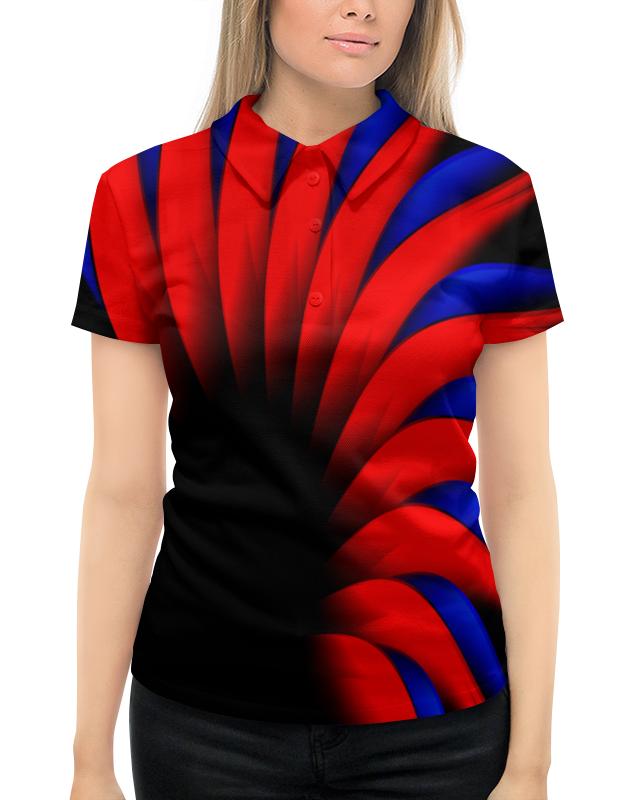 Рубашка Поло с полной запечаткой Printio Сине-красный