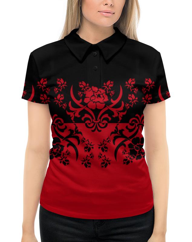 Рубашка Поло с полной запечаткой Printio Красно-черный кожаное платье