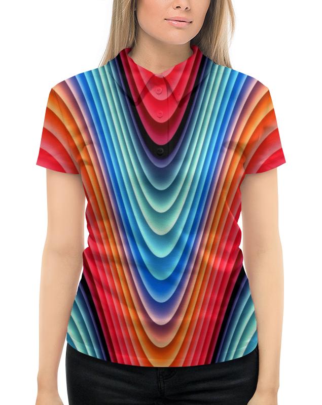 Рубашка Поло с полной запечаткой Printio Яркие линии рубашка поло с полной запечаткой printio линии