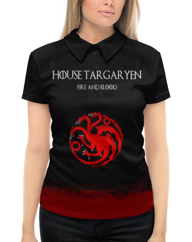 Рубашка Поло с полной запечаткой Printio House targaryen teak house стол консольный banda
