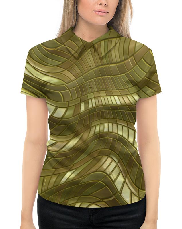 Рубашка Поло с полной запечаткой Printio Золотые полосы