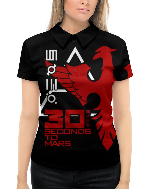 Рубашка Поло с полной запечаткой Printio 30 seconds to mars поло print bar discover mars